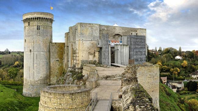 vu-chateau-Guillaume-le-Conquerant-Normandie